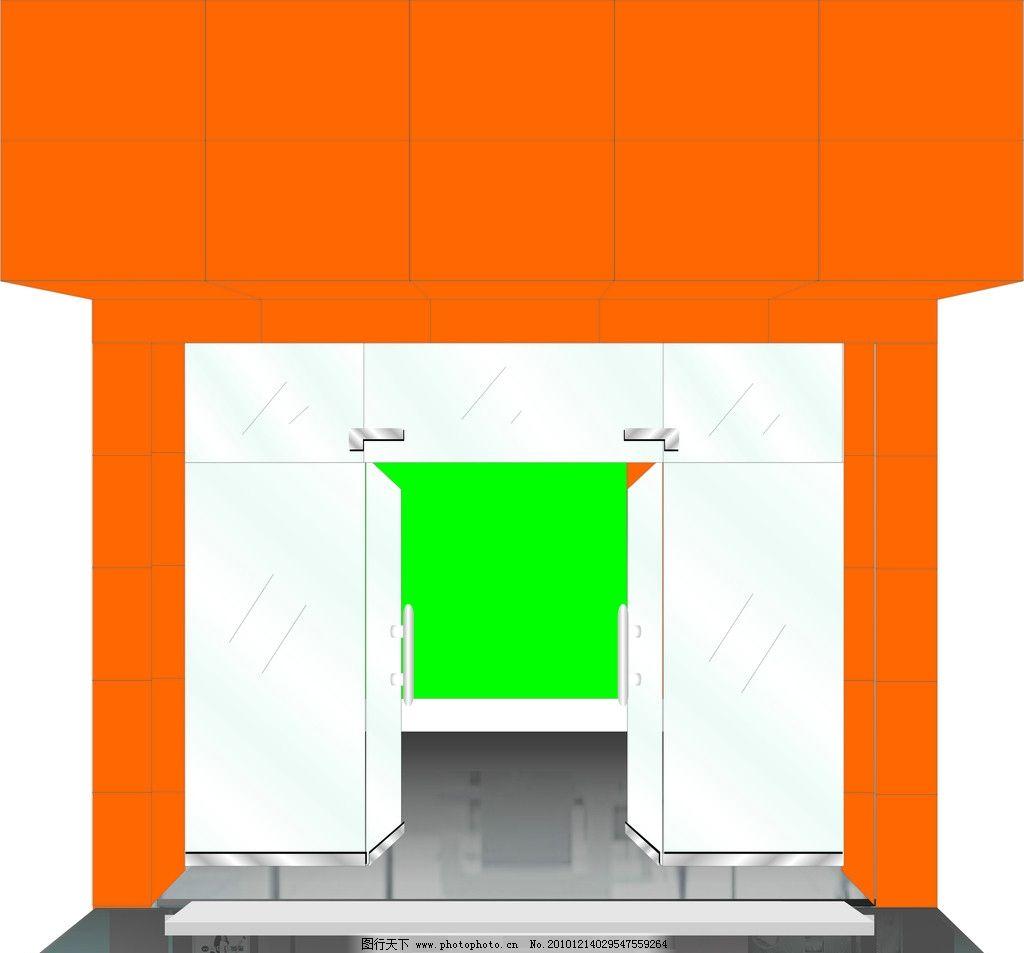 门头铝塑板效果图 门头效果图 广告设计 矢量 cdr