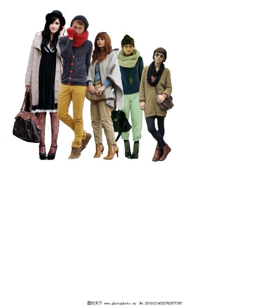 欧美时尚人物配景 街拍 街头 潮人 源文件