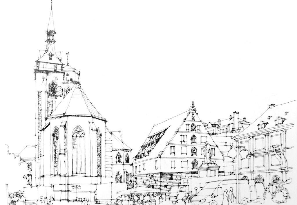 风景画 钢笔画 钢笔画图片 黑白画 绘画书法 建筑 建筑速写 设计 钢笔