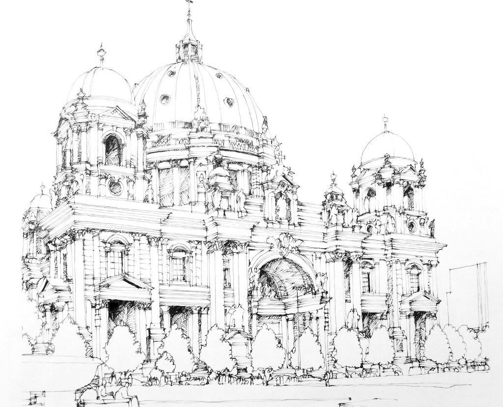 线描 建筑 速写 建筑速写 绘画书法 文化艺术 设计 100dpi     家居