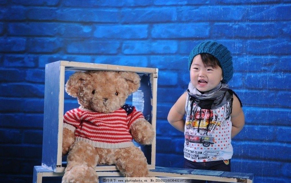 蓝色系的宝宝 蓝色系 小胖胖 可爱 可爱宝贝 儿童幼儿 人物图库 摄影