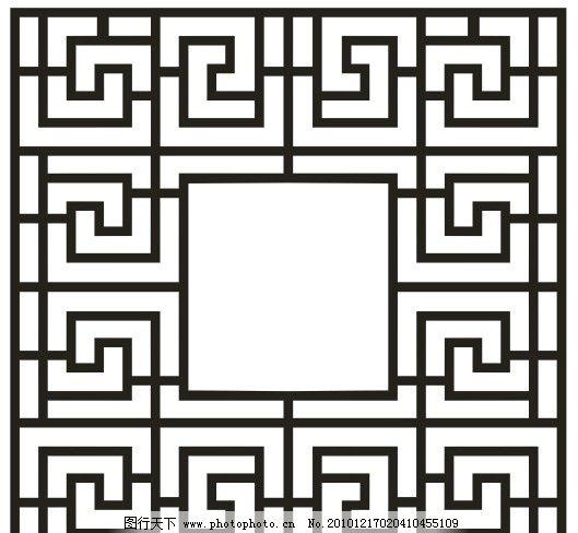 中式窗花图片_边框相框_底纹边框_图行天下图库