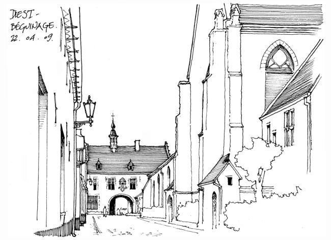 手绘欧洲建筑