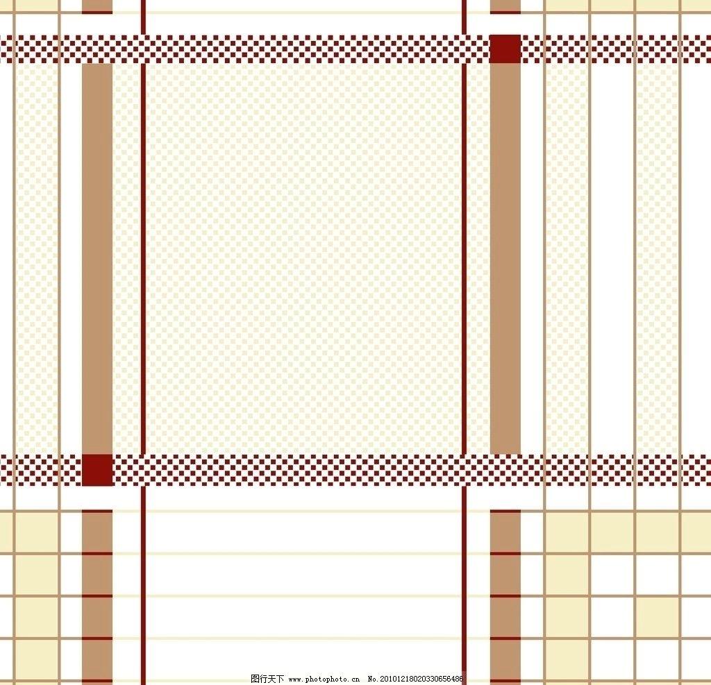 印花图案 格形 直条格子 直条 平网 印白布 花边花纹 底纹边框 设计