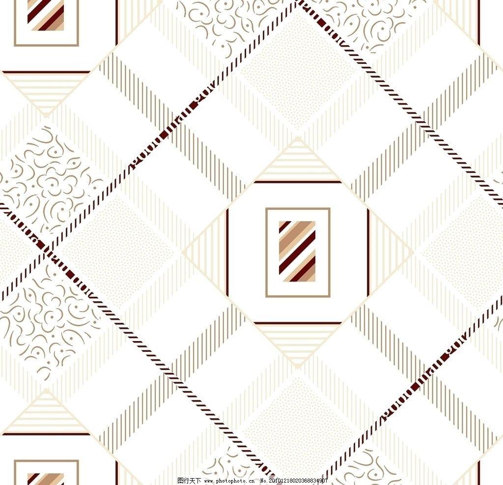 家居印花图案 格形 线条 灵形 空白格形 印白色布 小线条 花边花纹