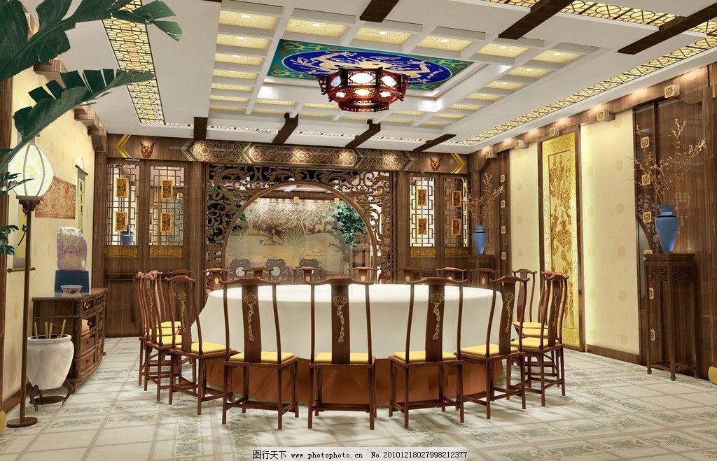 中式餐厅包间 大包间 洛阳大包间 效果图 中式桌椅 豪华餐饮包厢 酒店图片