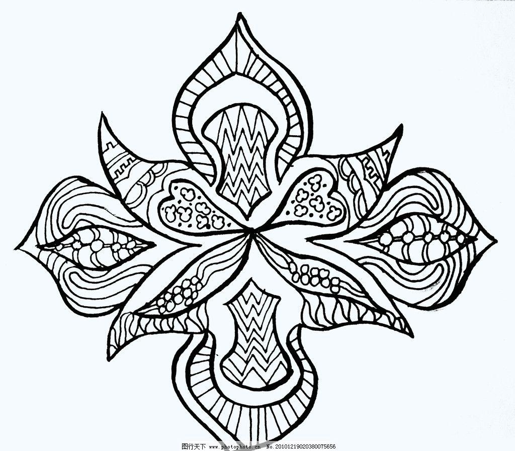 抽象花纹 黑白装饰画 花纹 花边花纹 底纹边框 设计 72dpi jpg