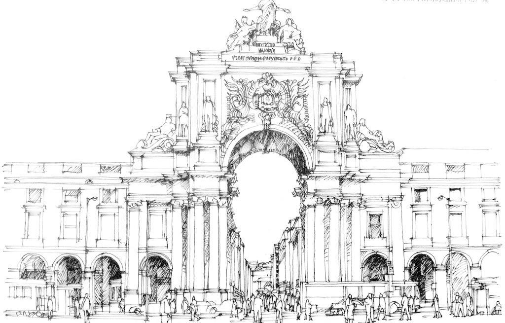 大门 房子 风景画 钢笔画 钢笔画图片 黑白画 绘画书法 建筑 钢笔画