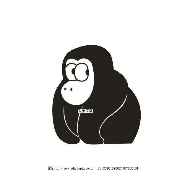 卡通动物 猩猩 卡通 动物 野生动物 生物世界 矢量 cdr