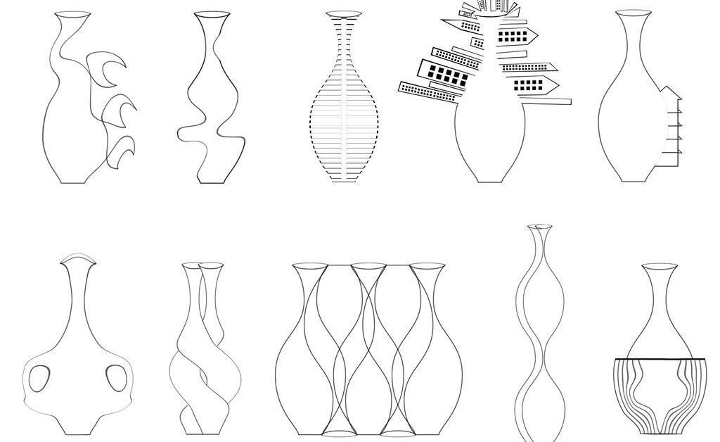 源文件 创意瓶子素材下载 创意瓶子模板下载 创意瓶子 瓶子 线条瓶子