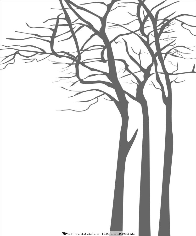树木矢量图图片