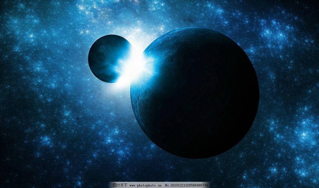 月球 高清 光线 星系 宇宙 太空 银河 蓝色 炫丽 动漫 背景 科技 科学