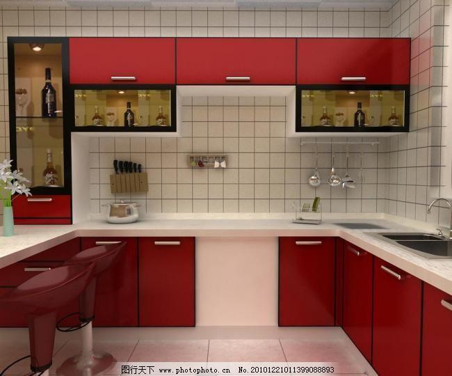 厨房正面图片_室内设计_装饰素材_图行天下图库