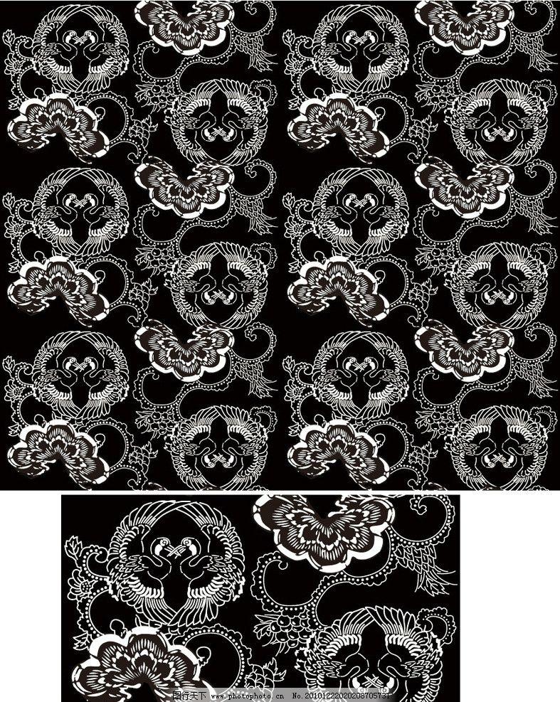 青花瓷古典花纹边框