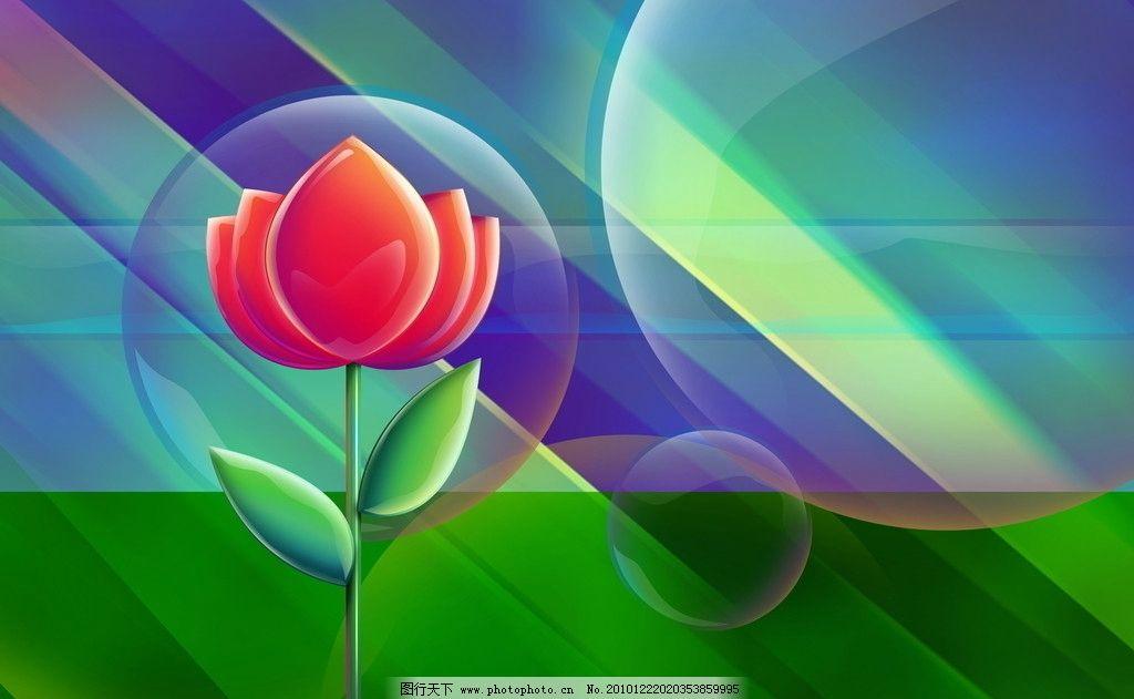 红花 炫彩 青春 活力 泡泡 花边花纹 底纹边框 设计 72dpi jpg