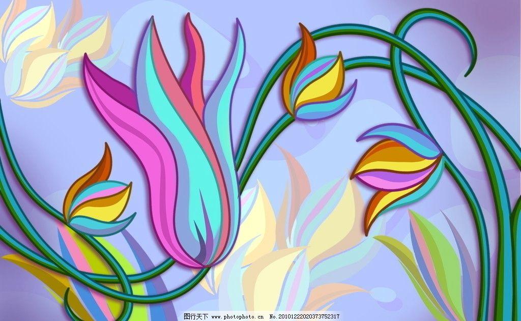 花藤 花 藤条 紫色 魔幻 活力 花边花纹 底纹边框 设计 72dpi jpg