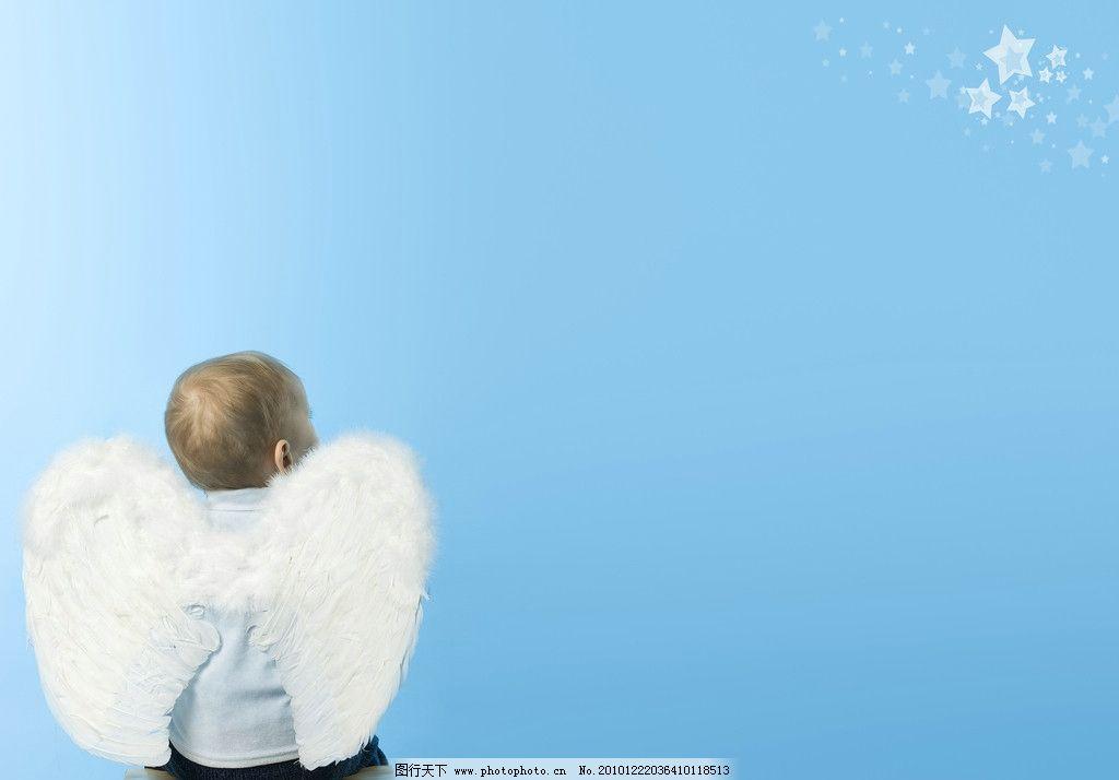儿童高清图片,天使 翅膀 小孩 宝宝 快乐 顽皮 可爱