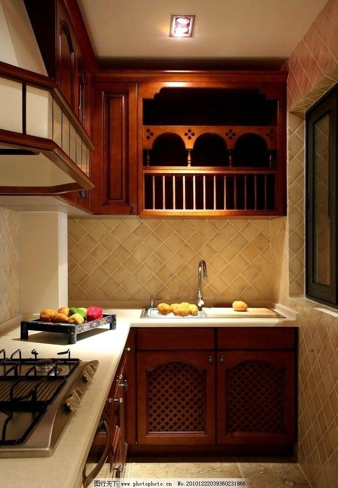 欧式厨房 橱柜 简约 温馨 家居 台面 室内摄影 建筑园林