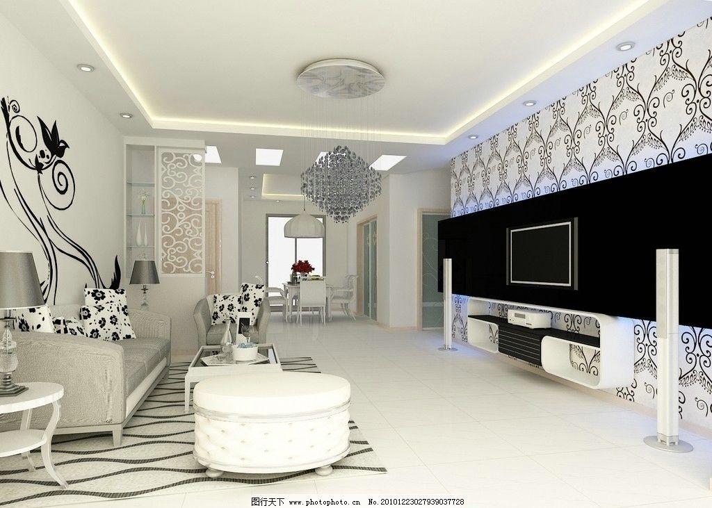 现代简约客厅效果图      简约风格 电视 背景墙 室内设计 环境设计