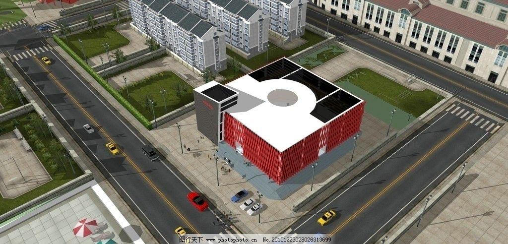 手绘馆3d鸟瞰图 3d鸟瞰图 建筑设计 方案 环境设计 设计 jpg