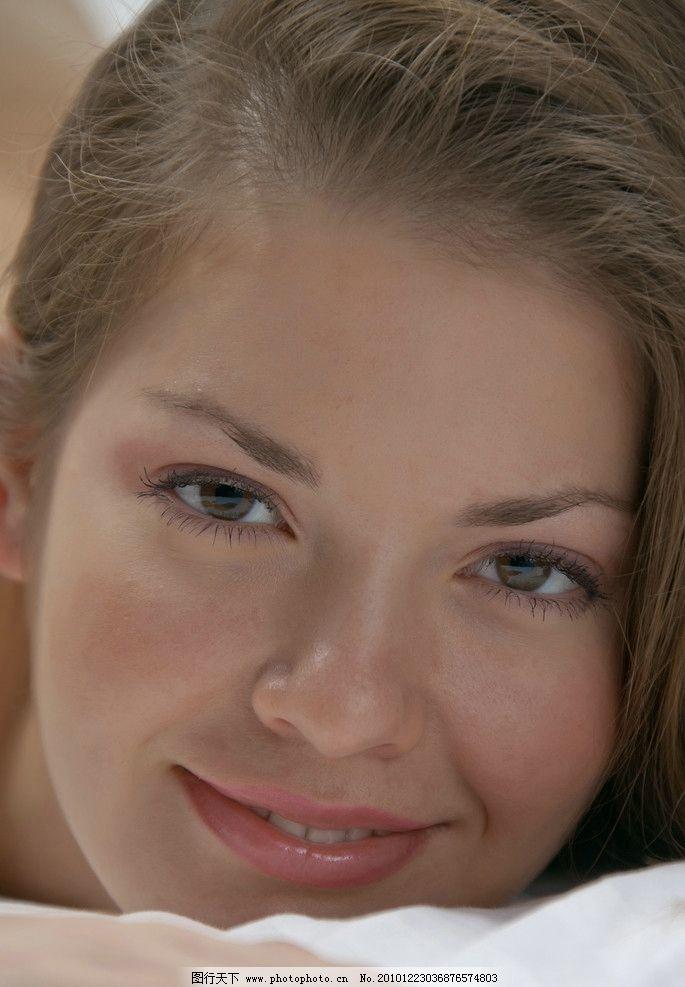 高清美人头 微笑 可爱 诱人 人物摄影 人物图库