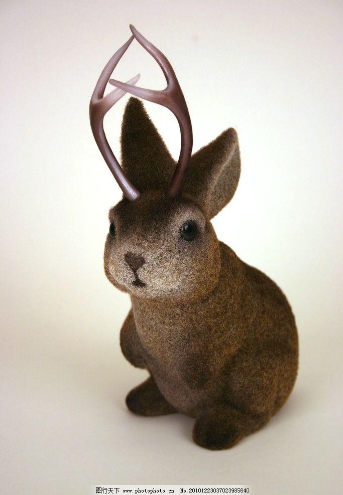 小兔子玩具 兔子 褐色 小兔子 宠物 家禽家畜 动物 生肖 生物世界