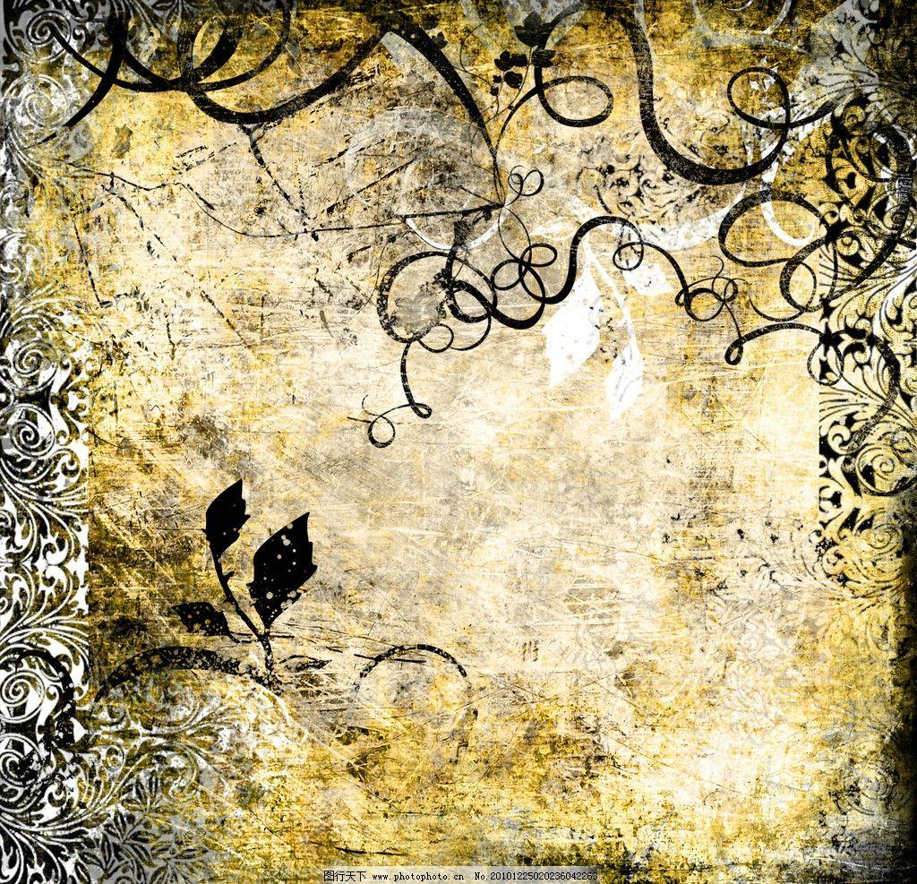 怀旧复古花纹高清背景图片