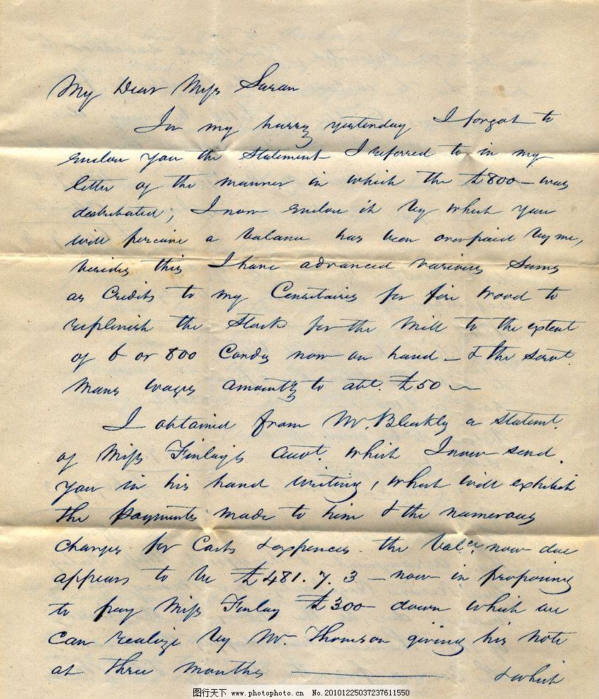 古老英文信件图片图片