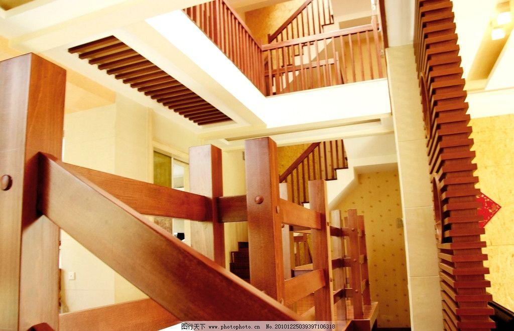 室内空间 护栏 别墅 室内 装饰      楼梯 室内摄影 建筑园林 摄影 30