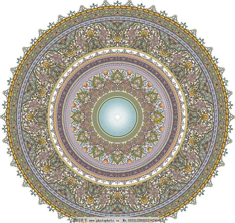 圆形花纹 欧洲 欧式 精美 花边 花框 背景 时尚 边框 移门图片