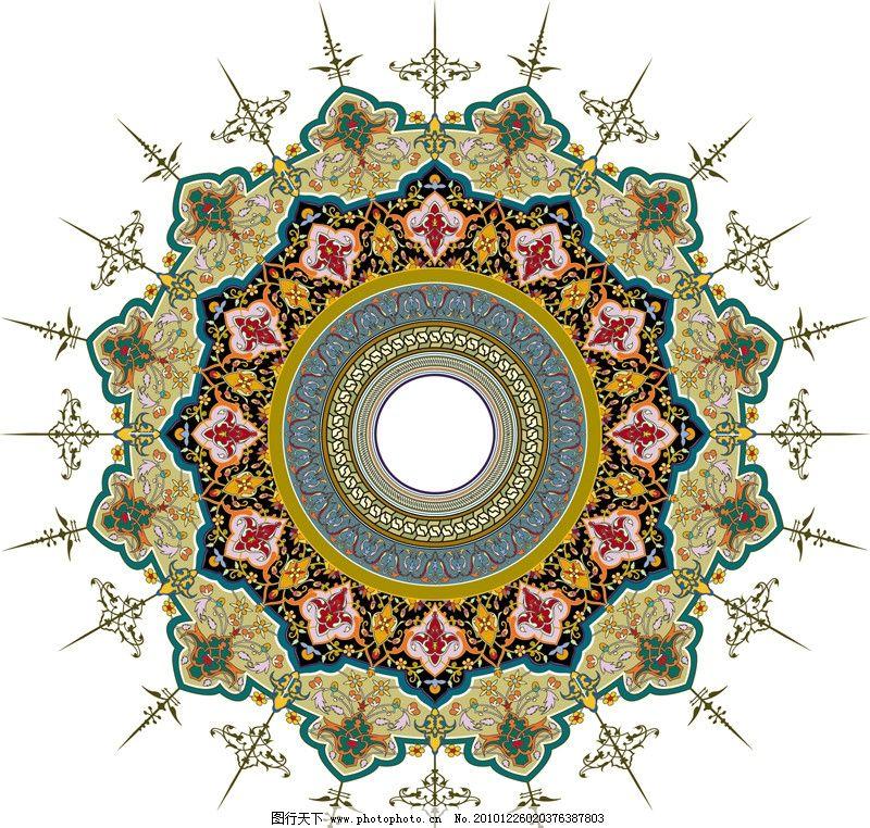 圆形花纹图片