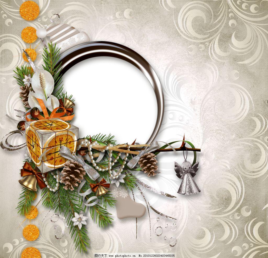 相框边框 相框 边框 花纹 花边 卡通背景 节日相框 欧式相框 圣诞相框