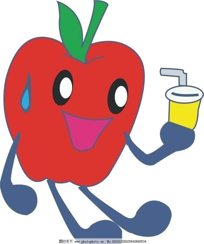可爱卡通红苹果图片