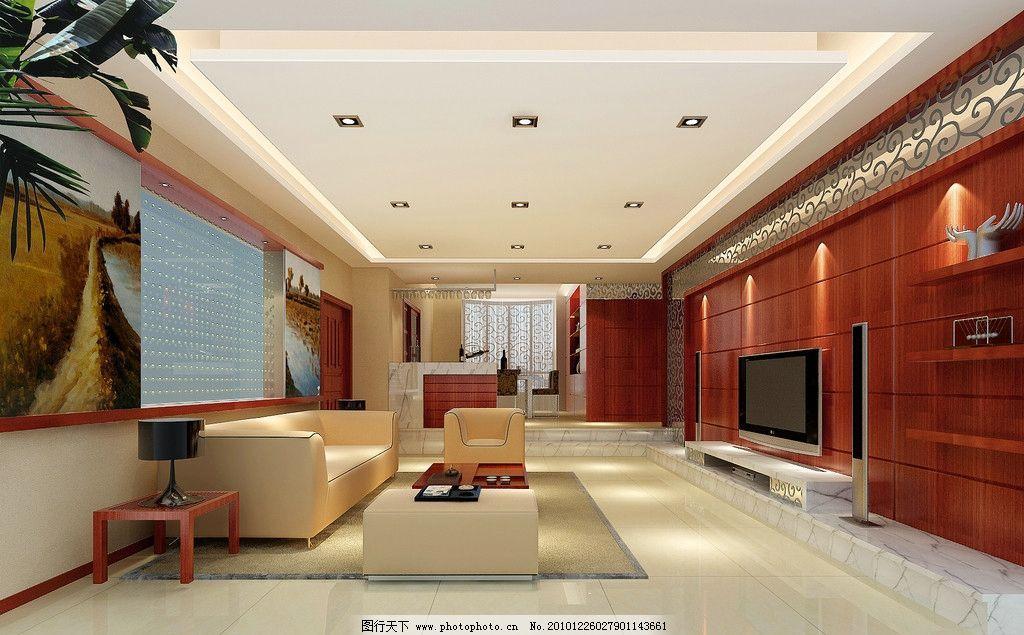 效果图 室内        室内设计 环境设计 设计 休息间 吊灯 灯光 渲染