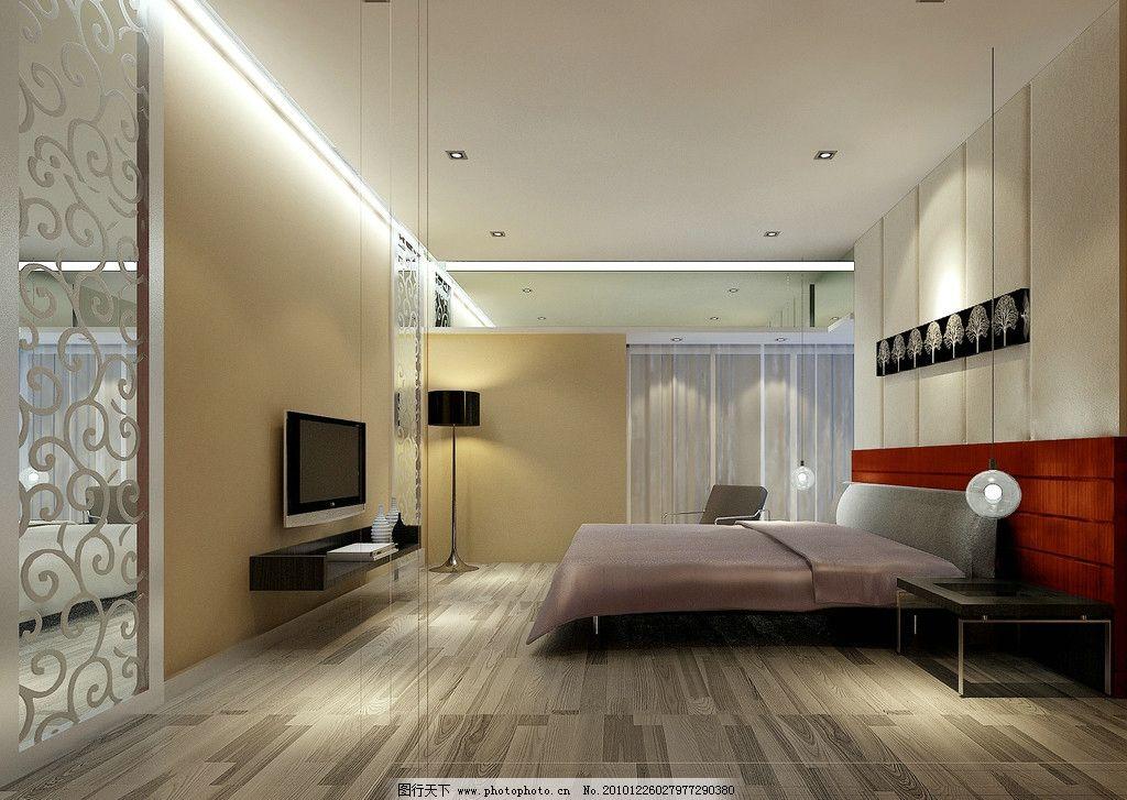 室内效果图 室内        室内设计 环境设计 设计 灯光 主卧 主人房 7