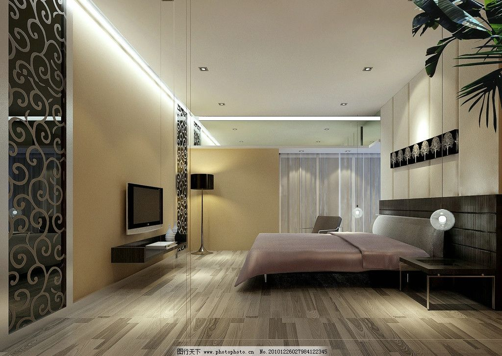 卧室效果图 室内效果图 室内        室内设计      环境设计 设计