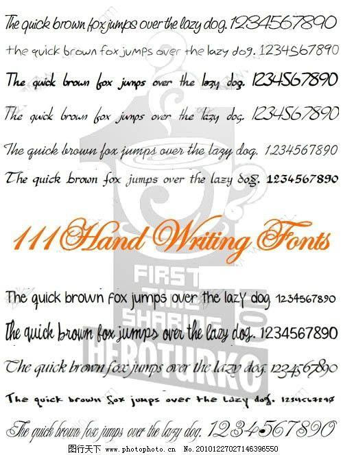 英文手写字体 111款英文手写字体