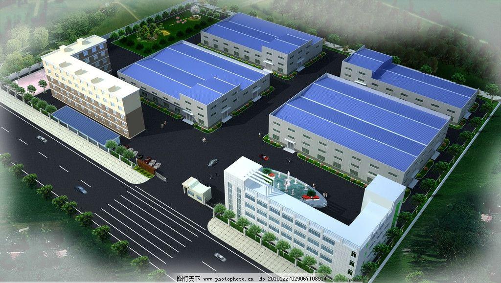 某廠區規劃 廠區效果圖 規劃 景觀 辦公樓 廠房 設計 綠化 其他設計