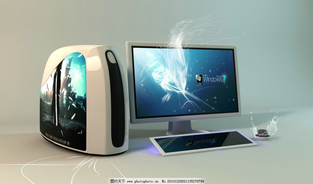 3d电脑 pc机 台式机 3d作品 3d设计 设计 72dpi jpg