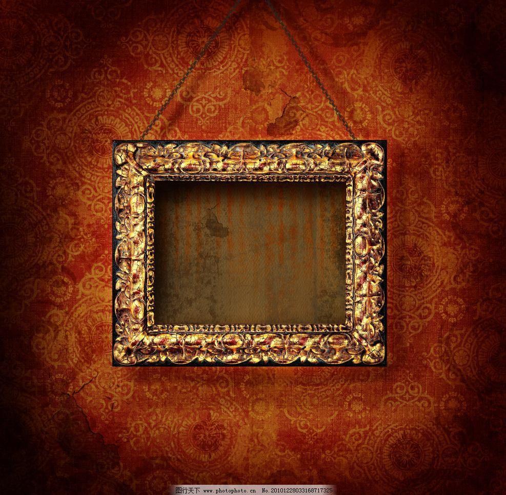 华丽金色相框图片,背景 边框 边框相框 底纹边框 复古