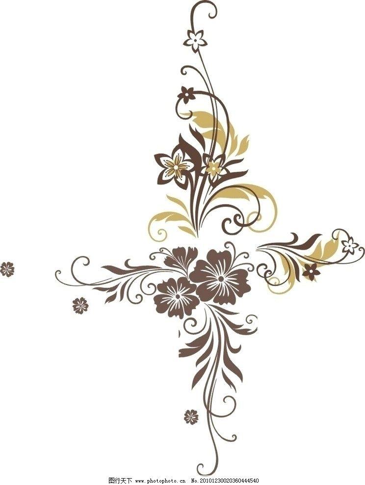 矢量花纹 花纹 移门花纹 移门 花朵 树叶 移门图案 花纹花边 底纹边框