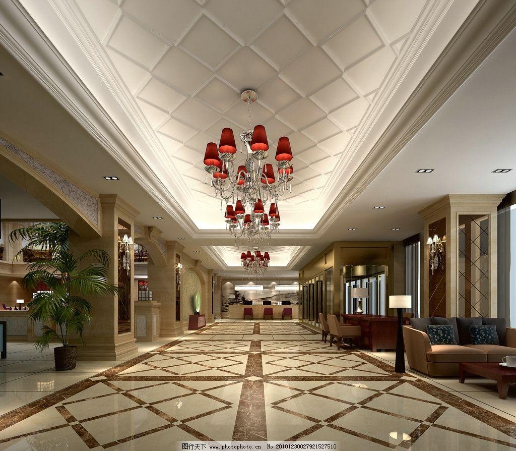 五星酒店大厅国道装修效果图图片