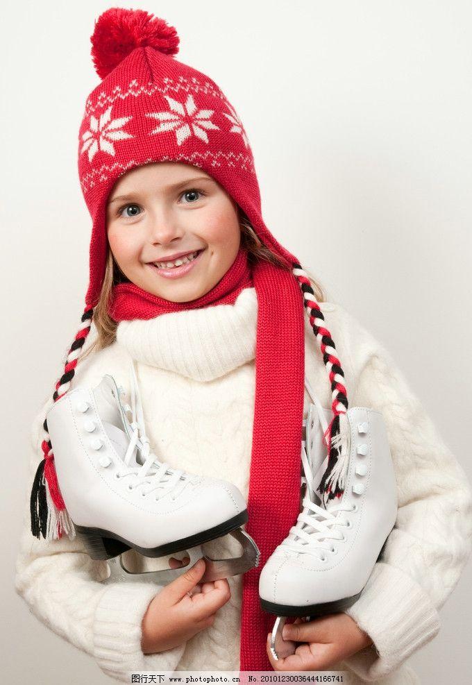 冬季小女孩图片