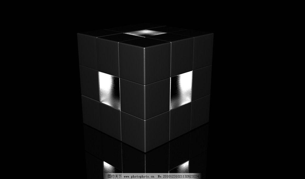 黑暗魔方壁纸 黑暗主题 魔方 立体 壁纸 3d作品 3d设计 设计 72dpi