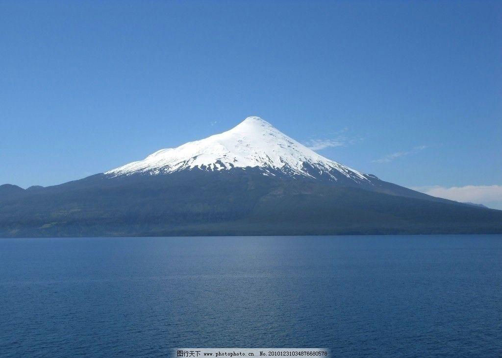 智利火山 风景 冬天 雪山 水 美丽风景 其他 摄影
