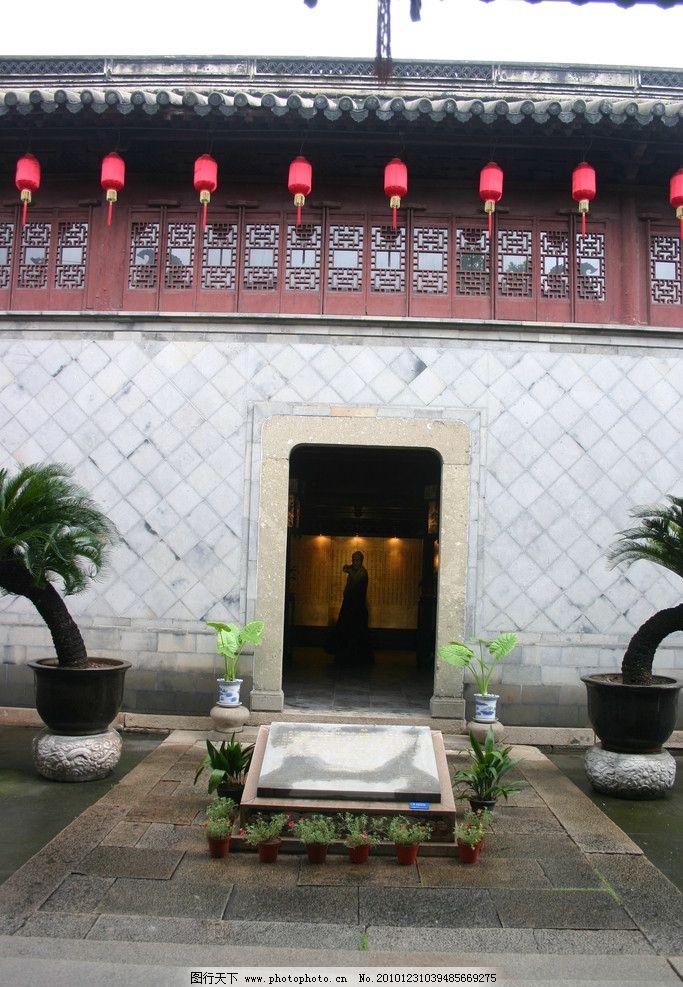 灯笼 建筑设计 中式建筑 中式设计 建筑摄影 植物 苏州 木雕 木格栅图片